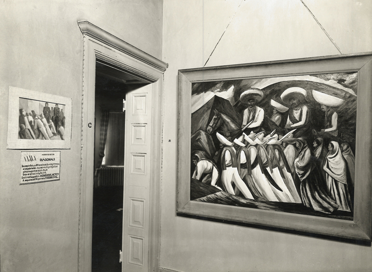"Gabriele Orozco's Zapatistas, 1931, on loan from The Metropolitan Museum of Art, displaying the ""diagonals"" motif."