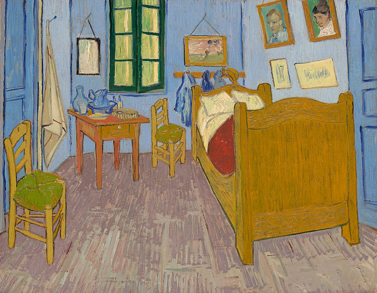 Vincent van Gogh, Van Gogh's Bedroom in Arles, 1889. Oil on canvas, 22 11/16 x 29 1/8 in. Musée d'Orsay, Paris