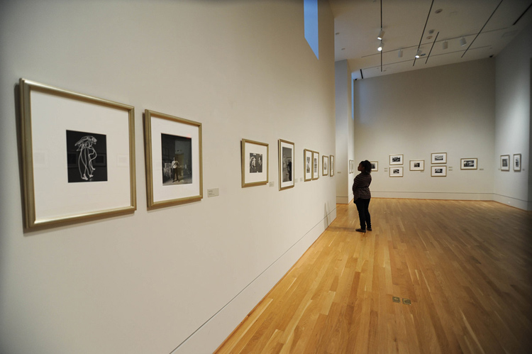 View of new photography installation at the Phillips. Photo: Joshua Navarro