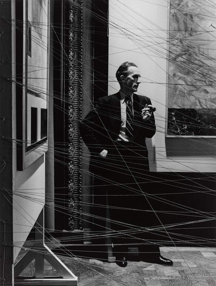 Arnold Newman, Marcel Duchamp, 1942, Gelatin silver print, Gift of Lisa Finn, 2012. © Arnold Newman Properties/Getty Images 2013