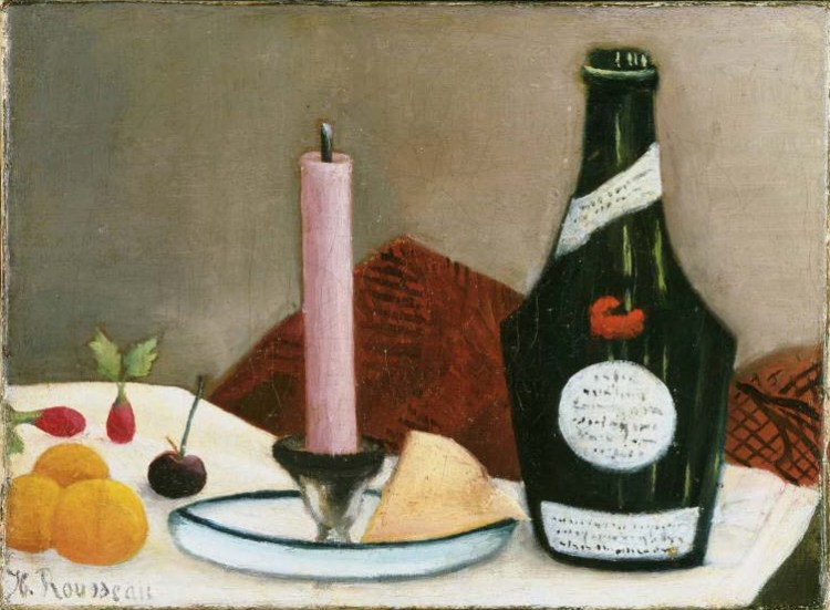 Henri Rousseau, The Pink Candle, 1908. Oil on canvas, 6 3/8 x 8 3/4 in. The Phillips Collection, Washington, D.C. Acquired 1930.