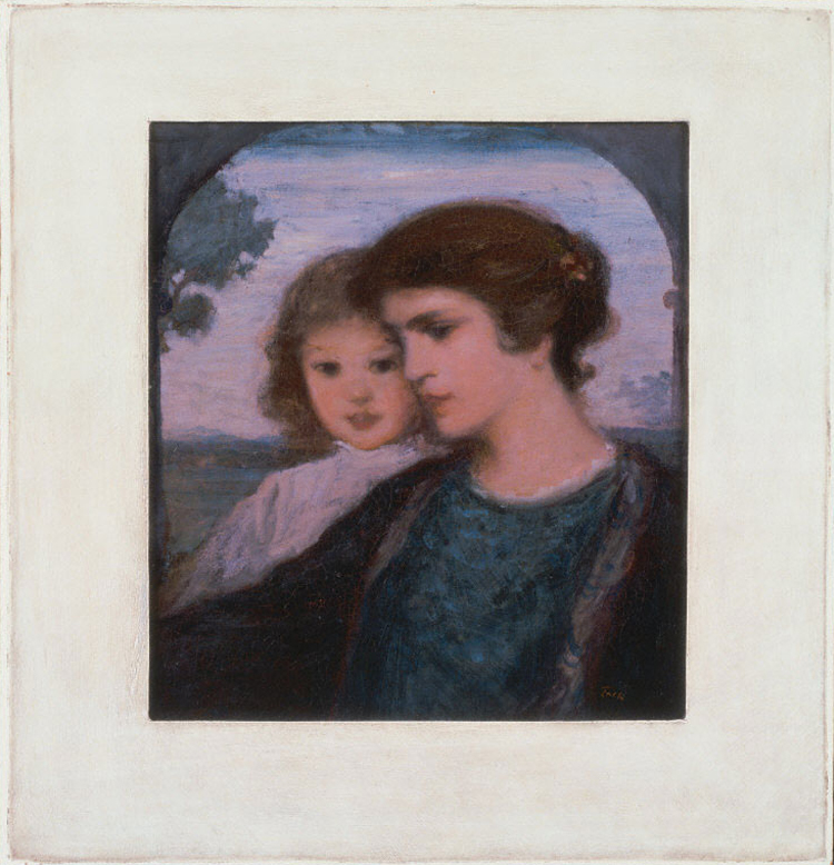 painting of the bust of a woman and child
