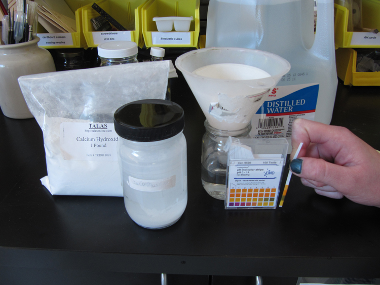 2. DT Preparation of correct pH wash water.