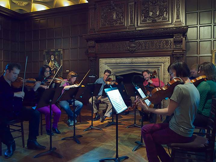 Phillips Camerata rehearsing. Photo: Edward Kelly