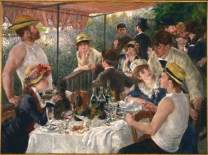 August Renoir, Luncheon of the Boating Party, 1880-1881.