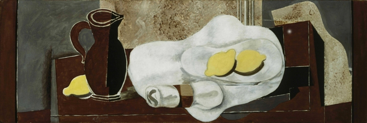 Georges Braque, Lemons and Napkin Ring, 1928. Oil and graphite on canvas, 15 3/4 x 47 1/4 in. The Phillips Collection, Washington, D.C. Acquired 1931 © 2013 Artists Rights Society (ARS), New York / ADAGP, Paris