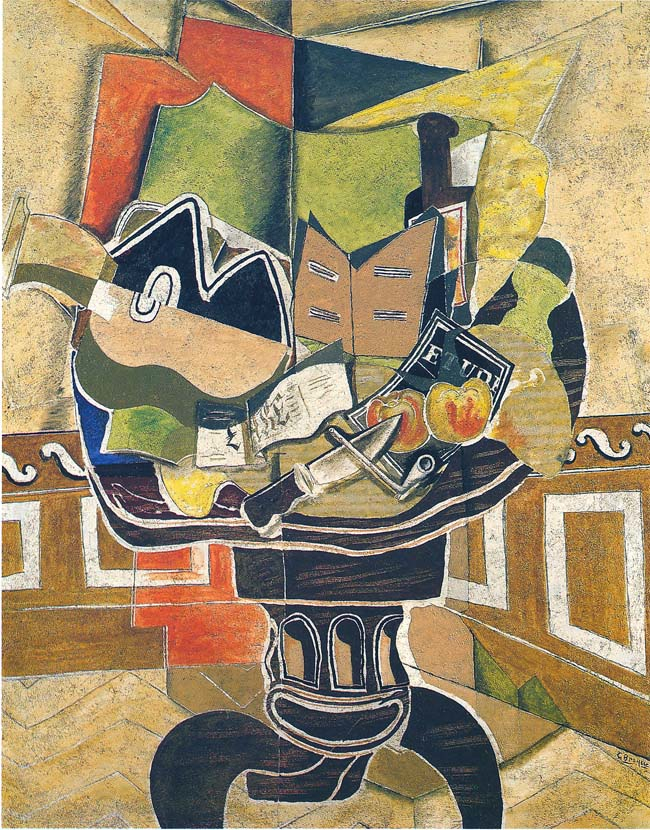 Georges Braque, The Round Table, 1929. Oil, sand, charcoal on canvas, 57 3/8 x 44 3/4 in. The Phillips Collection, Washington, D.C. Acquired 1934 © 2013 Artists Rights Society (ARS), New York / ADAGP, Paris