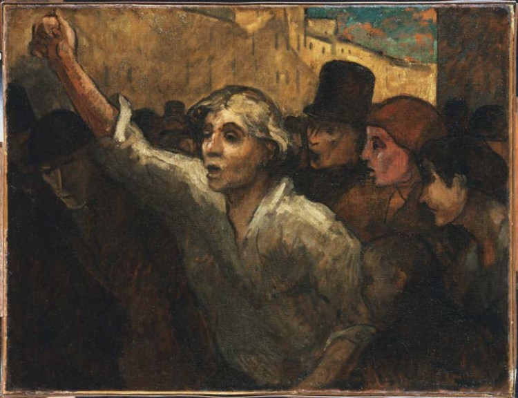 Honoré Daumier, The Uprising, between 1848 and 1879. Oil on canvas, 34 1/2 x 44 1/2 in. The Phillips Collection, Washington, D.C. Acquired 1925
