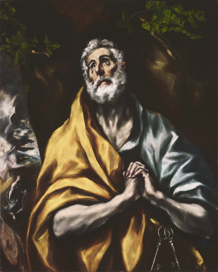El Greco, The Repentant St. Peter, between 1600 and 1614. Oil on canvas, 36 7/8 x 29 5/8 in. The Phillips Collection, Washington, D.C. Acquired 1922
