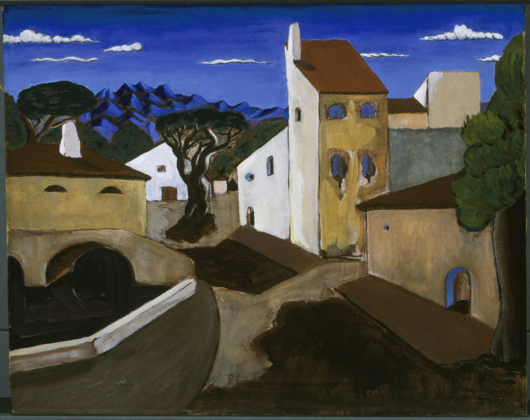John Graham, Mountain Village, 1927. Oil on canvas, 16 x 20 in. (40.6 x 50.8 cm). The Phillips Collection, Washington ,D.C., Acquired by 1929, possibly 1927.