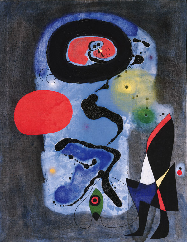 Image of Joan Miro's painting The Red Sun
