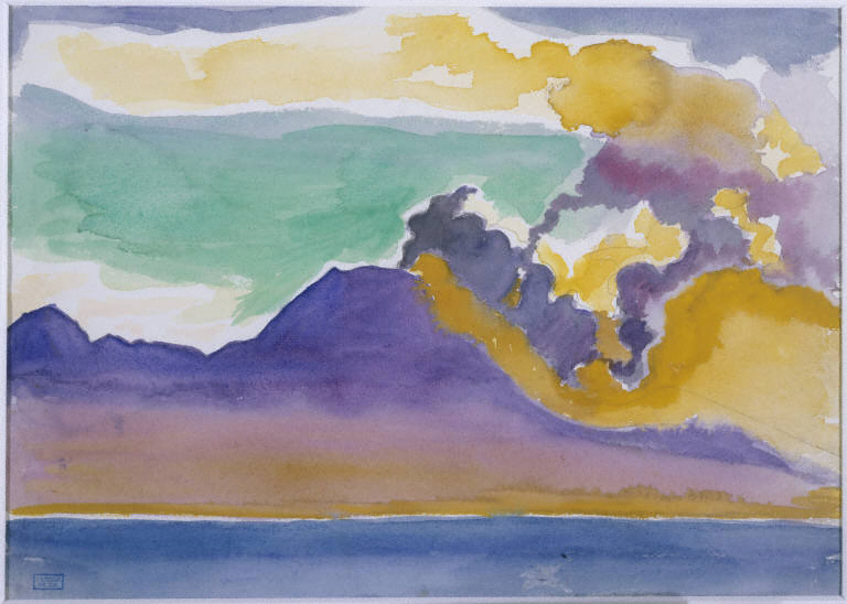 Joseph Stella, Vesuvius, c. 1915-20. Watercolor and pencil on paper, 9 1/2 x 13 1/4 in. (24.1 x 33.7 cm). The Phillips Collection, Washington, D.C., Gift of Jennifer and Alan Pensler in memory of Leslie Pensler, 1997.