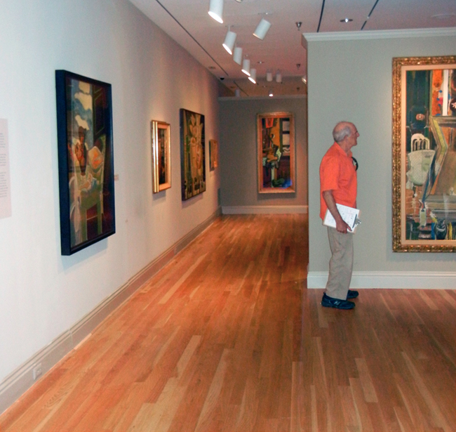 Val Lewton in the Braque galleries.