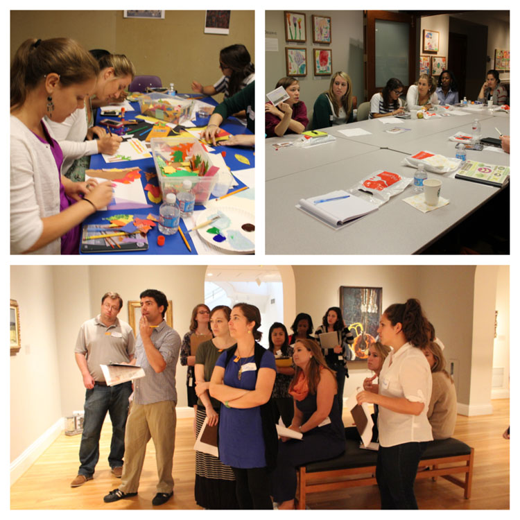 During Summer Institute teachers participated in hands-on art making workshops, shared ideas about how to incorporate the arts into their classrooms, and explored the galleries. Photos: Natalie Mann