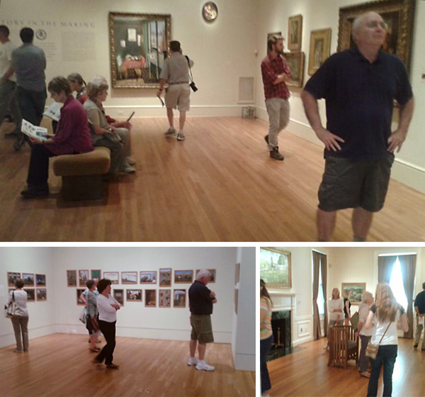 This week brought crowds to the galleries, even without a special exhibition. Photos: Sue Nichols