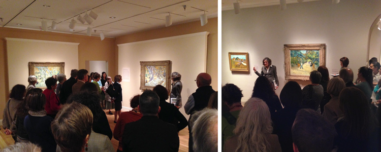 Staff and volunteers attend the curator's tour of van Gogh, October 9, 2013. Photos: Brooke Rosenblatt