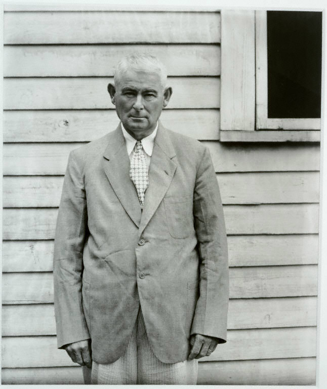 Walker Evans, Landowner, Moundville, AL, 1936. Gelatin silver print.The Joseph and Charlotte Lichtenberg Collection. Partial and promised gift of Joseph and Charlotte Lichtenberg, 2005.