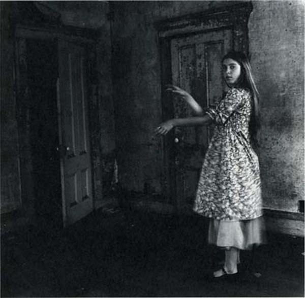 Francesca Woodman, Providence, Rhode Island,  1975-76, Gelatin silver print, Courtesy George and Betty Woodman