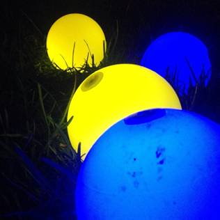 Glowing Bocce Balls
