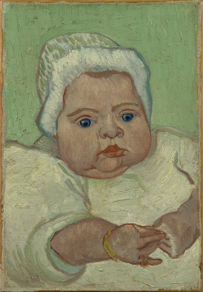 Vincent van Gogh, Portrait of Marcelle Roulin, 1888. Oil on canvas, 13 3/4 x 9 3/4 in. Van Gogh Museum, Amsterdam