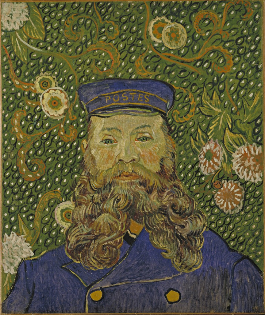 Vincent van Gogh, Portrait of Joseph Roulin, 1889. Oil on canvas, 25 3/8 x 21 3/4 in. The Museum of Modern Art, New York. Gift of Mr. and Mrs. William A. M. Burden, Mr. and Mrs. Paul Rosenberg, Nelson A. Rockefeller, Mr. and Mrs. Armand P. Bartos, The Sidney and Harriet Janis Collection, Mr. and Mrs. Werner E. Josten, and Loula D. Lasker Bequest (all by exchange). Digital Image © The Museum of Modern Art /Licensed by SCALA / Art Resource, NY