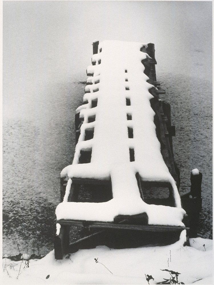 Minor White_Dock in Snow