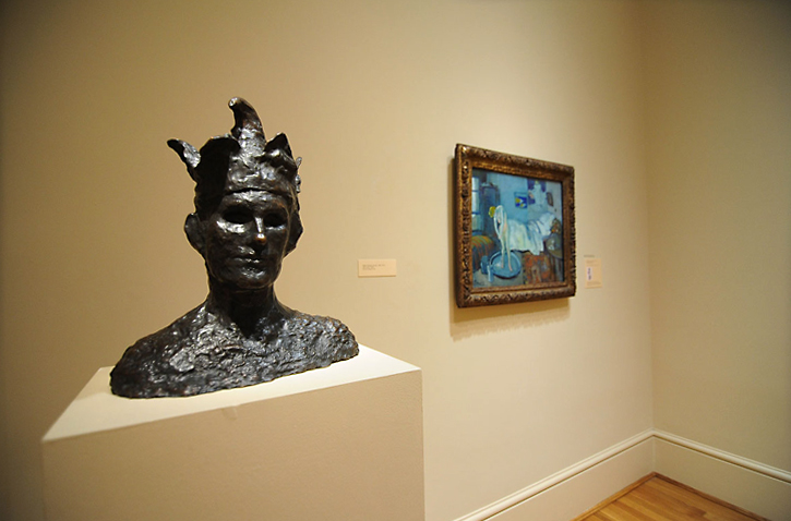 Picasso sculpture and painting