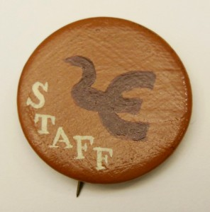 Handmade staff buttons