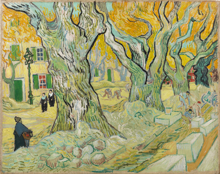 Vincent van Gogh, The Road Menders, 1889. Oil on canvas, 29 x 36 1/2 in. The Phillips Collection, Washington, D.C. Acquired 1949.