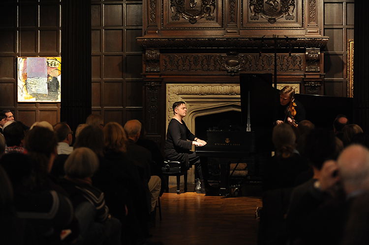 Finnish violinist Pekka Kuusisto and American composer/pianist Nico Muhly perform at The Phillips Collection on Sunday, January 5. Photo: Joshua Navarro