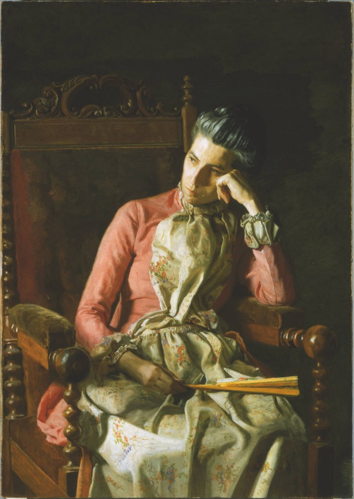 Thomas Eakins, Miss Amelia Van Buren, c. 1891. Oil on canvas, 45 x 32 in. The Phillips Collection, Washington, DC, Acquired 1927