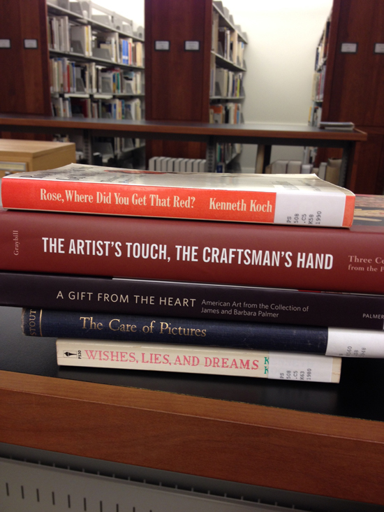 #SpinePoetry by Amy Wike, Marketing Manager.