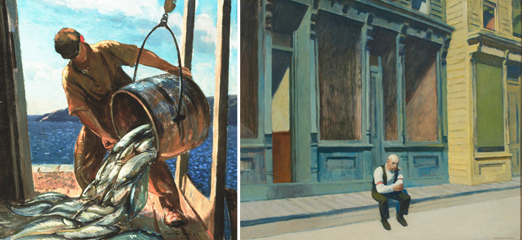 Gifford Beal The Fish Bucket and Edward Hopper Sunday