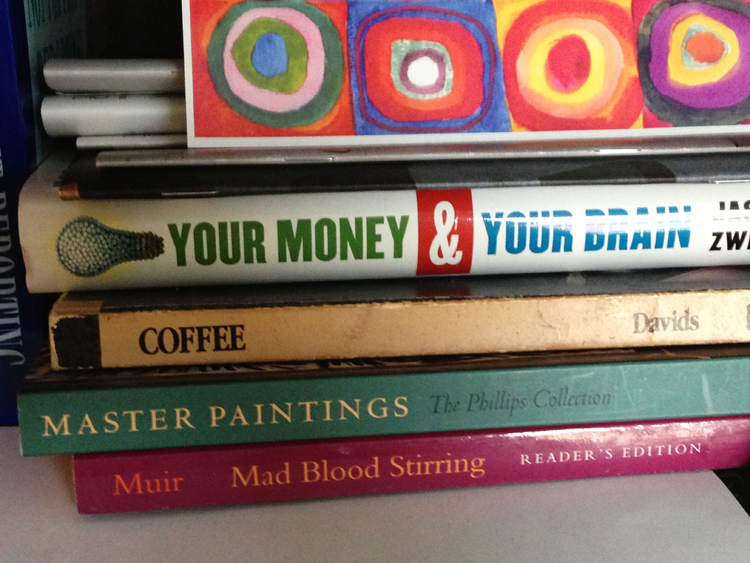 #SpinePoetry from the office of Cherie Nichols, Director of Budgeting and Reporting