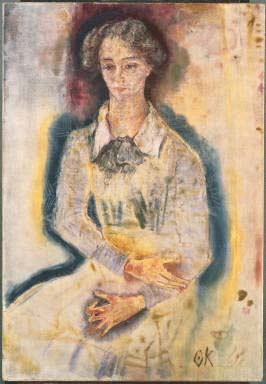 Oskar Kokoschka, Portrait of Lotte Franzos, 1909. Oil on canvas. 45 1/4 x 31 1/4 in. (114.9 x 79.4 cm). Acquired 1941.