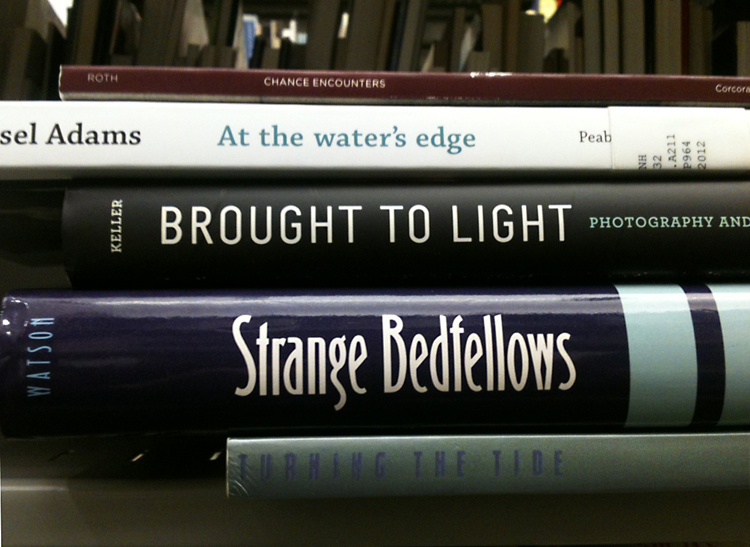 #SpinePoetry by Sarah Osborne Bender, Technical Services Librarian and Collections Metadata Specialist