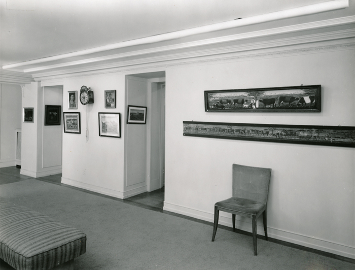 Swiss Peasant Art exhibition at the Phillips, June 9-July 2, 1927. Photo: The Phillips Collection Archives, Washington DC.