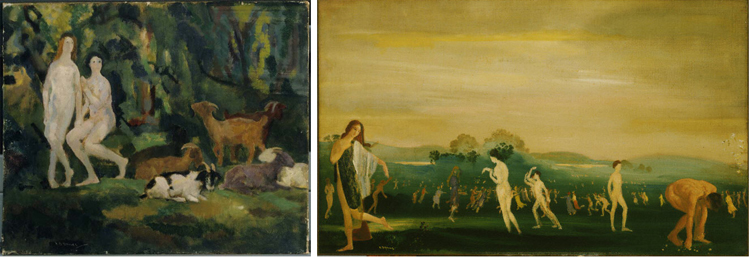 Two paintings by Arthur B. Davies