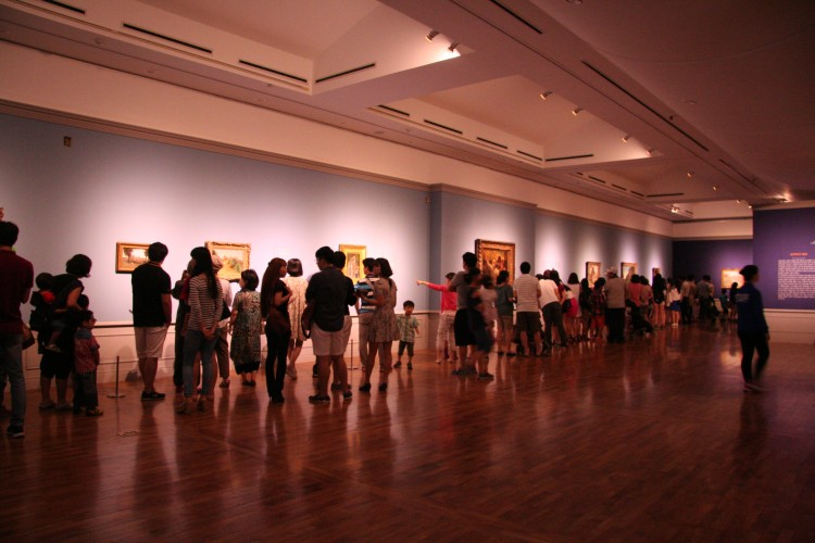 Visitors in the Daejeon Museum of Art galleries