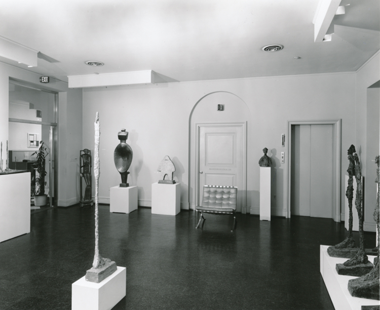 Giacometti exhibition, 1963. The Phillips Collection Archives, Washington DC.