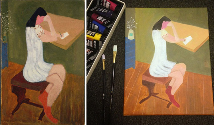 avery girl sitting_actual and instagram user painting