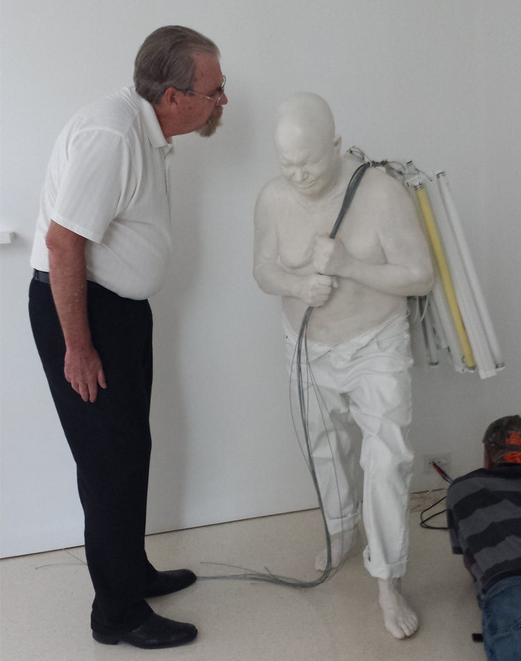 Dan Datlow with sculpture_Alec MacKaye