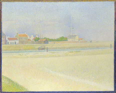 Georges Seurat, The Channel of Gravelines, Grand-Fort Philippe, 1890. Oil on canvas, 25 1/2 x 31 7/8 in. (65 x 81 cm). National Gallery, London, Bought with the aid of a  grant from the Heritage Lottery Fund, 1995