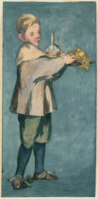 manet_boy carrying tray