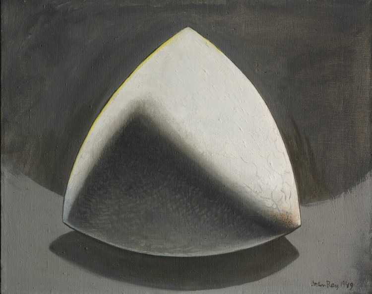 Man Ray, Shakespearean Equation, Hamlet, 1949. Oil on canvas, 16 x 20 1/8 in. The Cleveland Museum of Art, Bequest of Lockwood Thompson 1992.301. © Man Ray Trust / Artists Rights Society (ARS), NY / ADAGP, Paris 2015