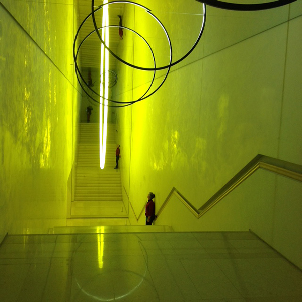 Trish in Olafur Eliasson stairwell_Shelly