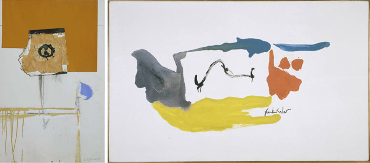 Motherwell in white and yellow ochre_Frankenthaler runningscape