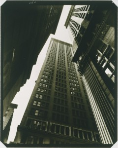 Berenice Abbott, Canyon: Broadway and Exchange Place, 1936. Gelatin silver print, 9 3/8 x 7 1/2 in. Gift of the Phillips Contemporaries, 2001. The Phillips Collection, Washington, DC.