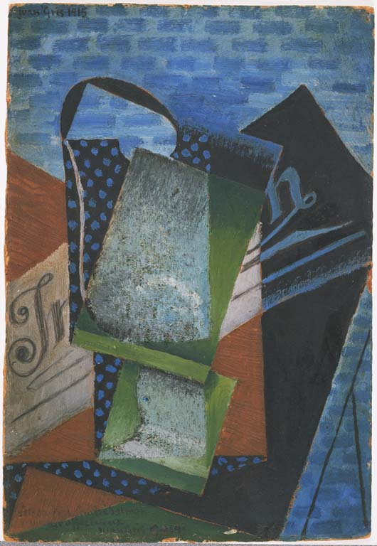 Juan Gris, Abstraction, 1915, Oil and oil with sand on cardboard 11 3/8 x 7 3/4 in. Acquired 1930. The Phillips Collection, Washington, D.C.