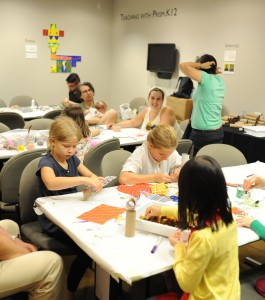 Visitors of all ages enjoyed creating their musical maracas in our art studio. Photo credit: Joshua Navarro